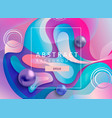 abstract geometric gradient background with balls vector image