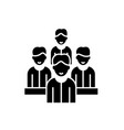 agile team black icon sign on isolated vector image vector image