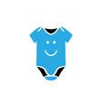 baby cloth icon design template vector image vector image