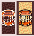 banners for bbq party vector image