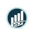business investment logo vector image vector image