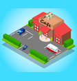 cafe concept banner isometric style vector image