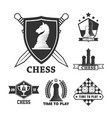 chess game isolated icons sword and shields game vector image vector image