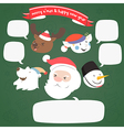 christmas character with speech bubble vector image vector image