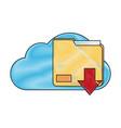 Cloud computing technology symbol vector image
