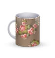Coffee cup template with flower vector image