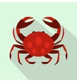 Crab icon flat style vector image vector image