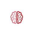 creative abstract brain logo vector image vector image
