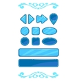 Cute blue game user interface vector image vector image