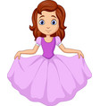 cute little princess isolated on white background vector image vector image