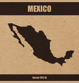 detailed map of mexico on craft paper vector image