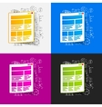 Drawing business formulas interface vector image vector image