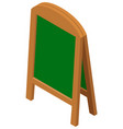 easle stand with green board vector image vector image