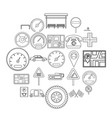 engine icons set outline style vector image vector image