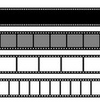 film strips collection old retro cinema strip vector image vector image