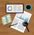 financial statistics concept vector image vector image