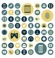 flat design icons for technology and media vector image