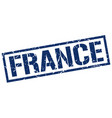 france blue square stamp vector image vector image