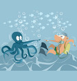 funny underwater situation vector image vector image