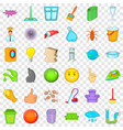 general cleaning icons set cartoon style vector image vector image