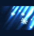 glowing snow falls from the side vector image vector image