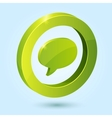 Green bubble speech symbol isolated on blue vector image