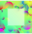 green spectrum background with color abstract vector image vector image