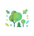 green trees ecology concept vector image