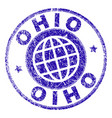 grunge textured ohio stamp seal vector image vector image