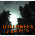 halloween banner or greeting card design freehand vector image vector image