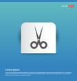 halloween scissors icon - blue sticker button vector image