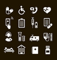 healthcare icons set medical assistance symbols vector image vector image