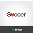 i love soccer vector image vector image