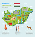 infographic map hungary vector image