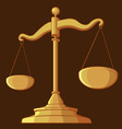 Justice Scale vector image