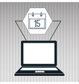 laptop apps icon vector image vector image