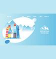 logo mountain tourism main vector image