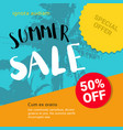 multicolored summer sale lettering with tropical vector image
