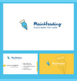 pen nib logo design with tagline front and back vector image
