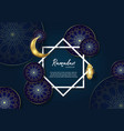 ramadan kareem islamic premium with moon and vector image vector image