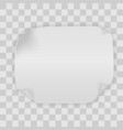 realistic paper banner curved ribbon vector image