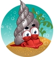 red lobster snail vector image vector image