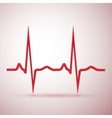 red pulse isolated vector image vector image