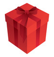 red romantic holiday gift box vector image