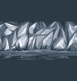 rocky gray cave game background vector image vector image