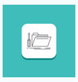 round button for folder tool repair resource vector image