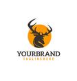 round deer logo vector image