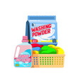set household supplies group detergents on vector image