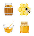 set of honeycom icons vector image