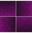 Set Purple Circle Dotted Background vector image